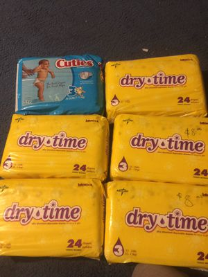 Size 3 diapers for Sale in Dallas, TX