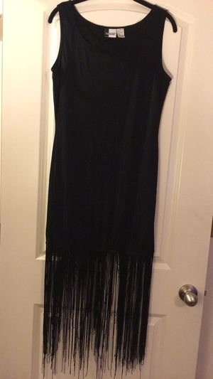 Medium black fringe dress for Sale in Woodbridge, VA