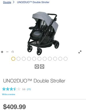 Graco Uno2duo double stroller for Sale in Chula Vista, CA