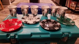 Poker dishes and coffee cup for Sale in Puyallup, WA
