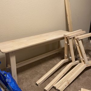 IKEA Table With Chairs And Bench for Sale in Lynnwood, WA