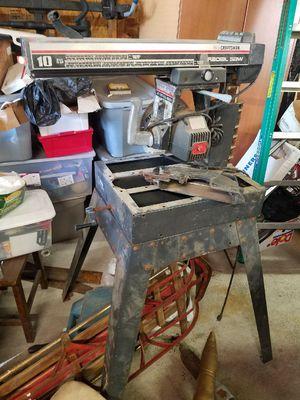 Craftsman 10 in. radial saw. for Sale in Sandy, UT