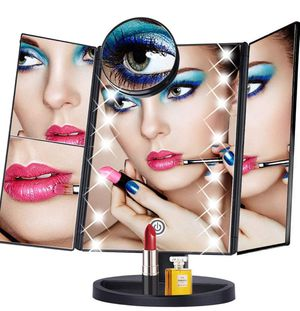 Makeup Vanity Mirror with 22 Led Lights,Tri Fold Mirror with 10x/3x/2x Magnification for Sale in Miami, FL