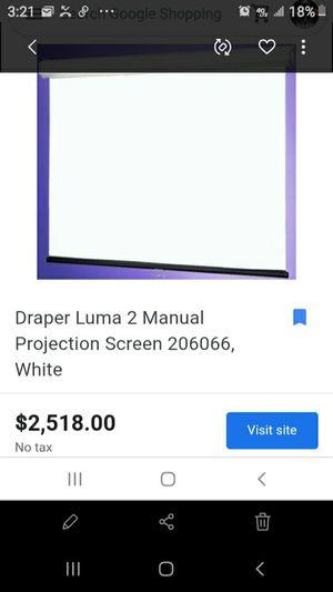 Luma draper 98x 68 hd manual projection screen for Sale in St. Louis, MO