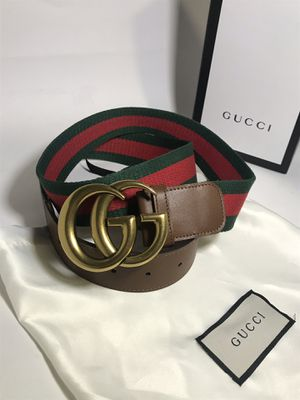 Gucci Brown Leather Webbed Brass GG Belt **XMAS SALE! for Sale in Queens, NY