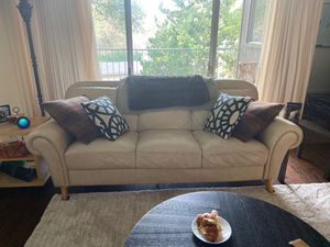 White leather couch for Sale in Saratoga, CA