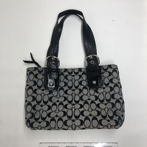 COACH Vintage Handbag Black And Gray Tote Purse for Sale in Collinsville, IL