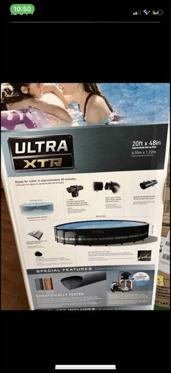 Intex 20ft x 48in Frame Round Swimming Pool Set with Sand Filter Pump for Sale in Silver Spring,  MD