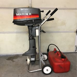 Mariner 5HP 2-Stroke Outboard Boat Engine for Sale in Huntington Beach, CA