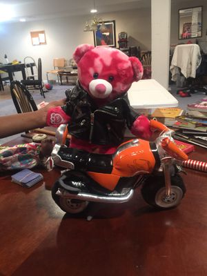 Build a Bear motor cycle & jacket for Sale in Florissant, MO