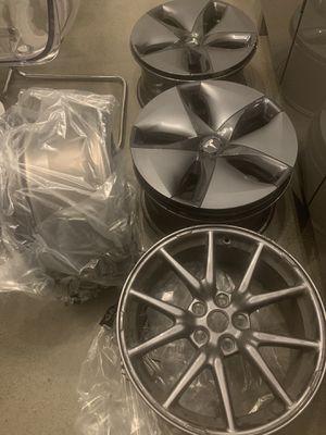 Tesla Model 3 aero wheels/covers for Sale in Seattle, WA