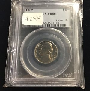 1959 PCGS PR 66 5 Cent for Sale in Bakersfield, CA