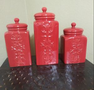 "New Canisters big: 10.5"" x 4.3"" & medium: 9"" x 4.3"" & small:7.5"" x 4.3"" $30 for Sale in Mesa, AZ"