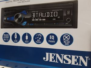 JENSEN digital media receiver bluetooth USB aux remote control 200 watts 2 pairs rca output ( no CD player) new for Sale in South Gate, CA