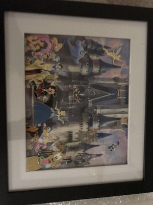 Disney castle picture with pins for Sale in Middletown, NJ