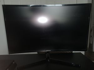 "Samsung 27"" Curved 1920x1080 VGA HDMI 60hz 4ms AMD FREESYNC HD LED Monitor for Sale in Naranja, FL"