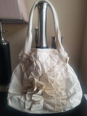 Cream ruffle large handbag for Sale in Tampa, FL