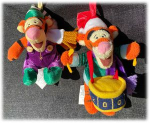 2x LOT Disney Store Christmas Plush Ornaments Tigger 2001 Drummer Elf for Sale in Moreno Valley, CA