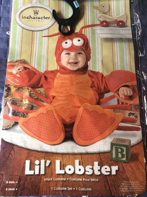 Lobster costume 6+ month for Sale in Lakewood, WA