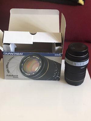 Quantaray 100 - 300mm zoom lens (for Nikon for Sale in San Antonio, TX