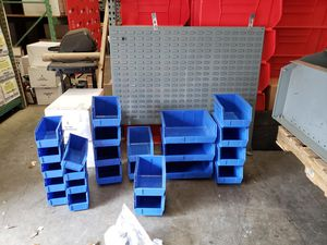 Work van storage shelf and wall that you mount storage bins for Sale in Simpsonville, SC