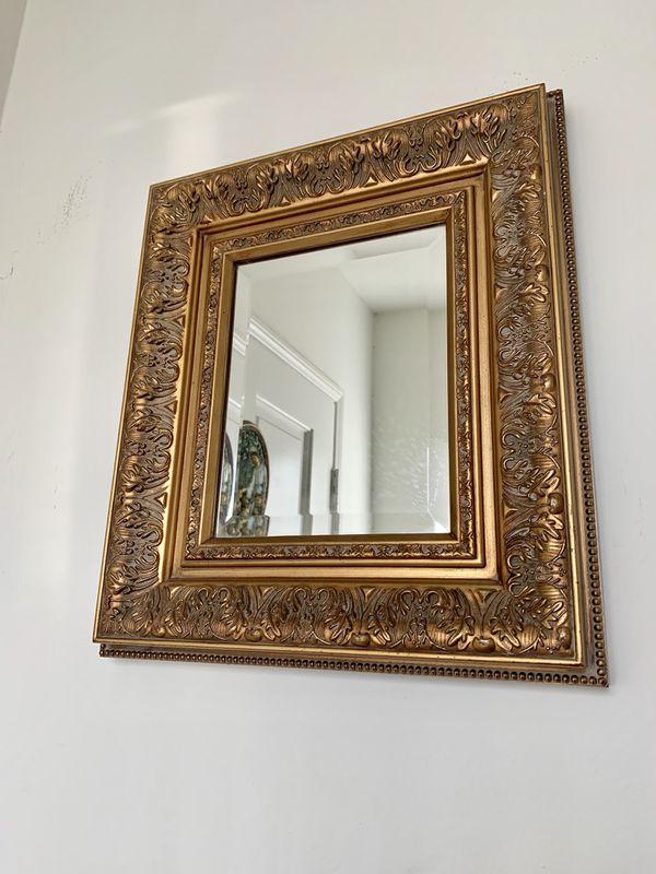 Vintage Antique Mirror/ Golden