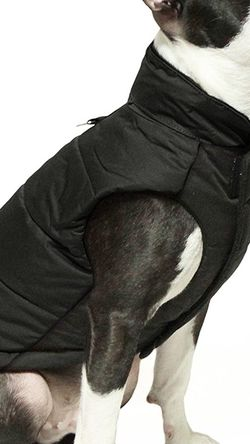 Gooby - Wind Parka, Fleece Lined Small Dog Jacket Coat Sweater with Water Resistant Shell and Leash Ring for Sale in Henderson,  NV