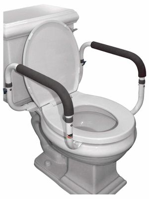 Carex Health Brands Toilet Safety Frame Rails With Adjustable Width For The Elderly, Handicap or Post Surgery, Supports 300 Lbs for Sale in Los Angeles, CA