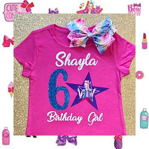 Personalized JoJo Siwa Glittery Shirt & Bow 🎀 for Sale in Long Beach, CA