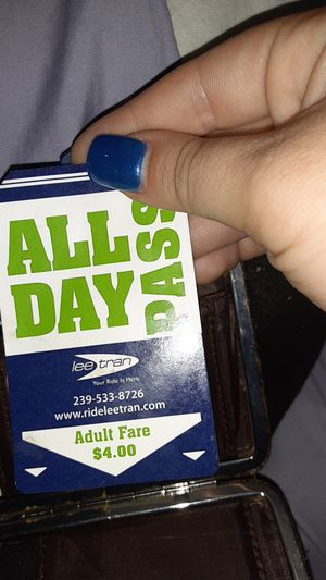 Lee tran all day bus pass for Sale in Fort Myers, FL