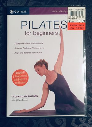 REDUCED~ New Gaiam DVD Top Rated Beginners Pilates for Sale in Newburgh, IN