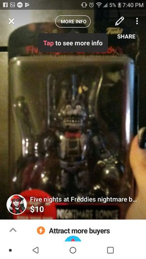 Five nights at Freddy's nightmare bonnie for Sale in Rock Island, IL