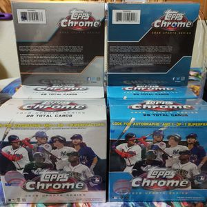 Topps Chrome Updated Series Baseball Card Mega Box NEW FACTORY SEALED Lot Of 10! for Sale in Soledad, CA
