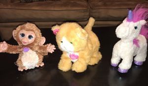 FurReal Friends- Monkey Cuddles, Kitten Daisy and Unicorn Starbeam for Sale in Houston, TX