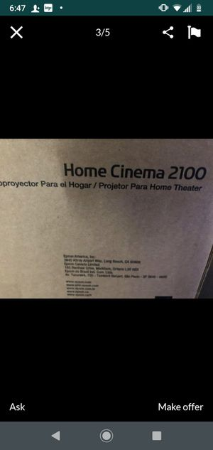 New Epson 2100 1080p projector for Sale in St. Louis, MO