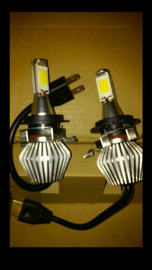 H7 6k leds with BMW / Mercedes-Benz adapters for Sale in Vernon, CA
