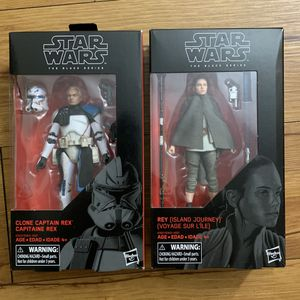 Lot Of 2: Star Wars Clone Captain Rex & Rey Black Series 6 Inch Action Figure for Sale in Garden Grove, CA