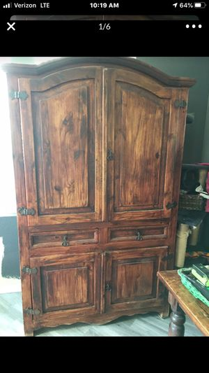Armoire TV Cabinet Storage Shelves Furniture entertainment center for Sale in Tracy, CA