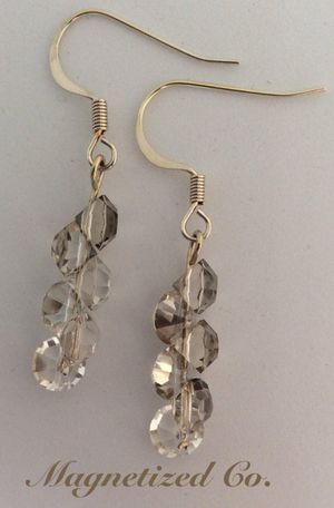 Clear Diamond Crystal Dangle Earrings for Sale in Independence, OH