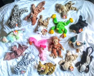 15 QUALITY / RARE BEANIE BABIES w/ SOME TAG ERRORS - GREAT SHAPE for Sale in San Dimas, CA