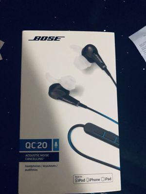 Bose QC20 noise canceling for Sale in Denver, CO