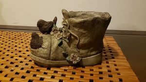 Homemade Boot Flower Pot/Decoration Piece for Sale in Washington, DC
