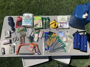Camping Items - Coleman water jug carrier, folding shovel, etc. for Sale in Fontana, CA