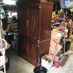 Vintage Wardrobe. Solid Wood! Need It Gone! for Sale in Mountain View,  CA