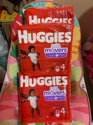 Huggies size 4, 4 packs for Sale in Providence, RI