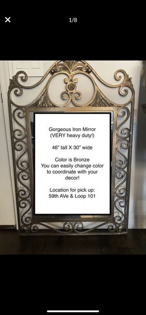 Large iron wall mirror for Sale in Glendale, AZ