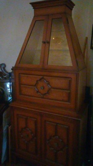 Antique Natural Wood Cabinet for Sale in Chicago, IL