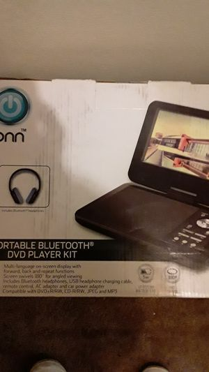 Portable DVD player with Bluetooth headphones for Sale in Ypsilanti, MI
