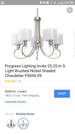 Chandelier brand new has not been used 220 or best offer for Sale in Little Ferry, NJ