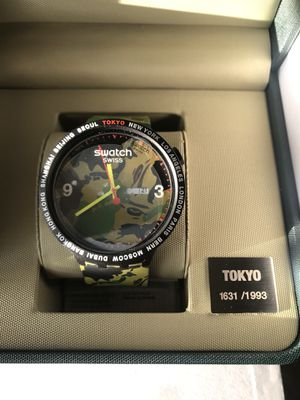 BAPE x SWATCH BIG BOLD TOKYO LIMITED EDITION - 1631/1993 BRAND NEW, NEVER WORN for Sale in Brooklyn, NY